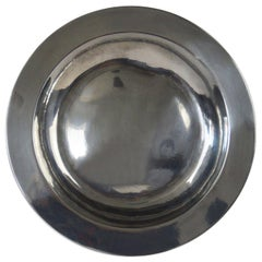 Large Antique Brightly Polished Pewter Dish, English, 18th Century