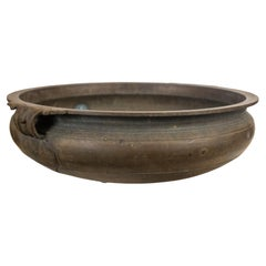 Large Antique Bronze Indian Urli