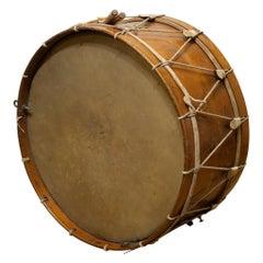 Large Antique Calfskin Begium Drum, circa 1900