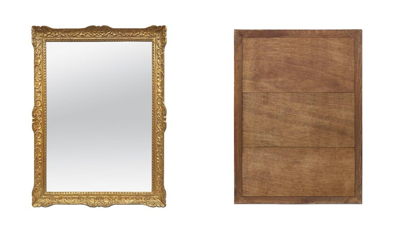 Large Antique Carved Gilt Wood Mirror, Louis XIV Style, circa 1965 For Sale 3