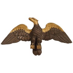 Large Antique Carved Wooden Eagle Sculpture, Late 18th Century