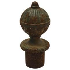 Large Antique Cast Iron Finial