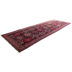 Large Antique Caucasian Karabagh Carpet / Runner