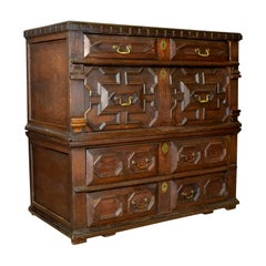 Large Antique Chest of Drawers, 17th Century, English, Oak