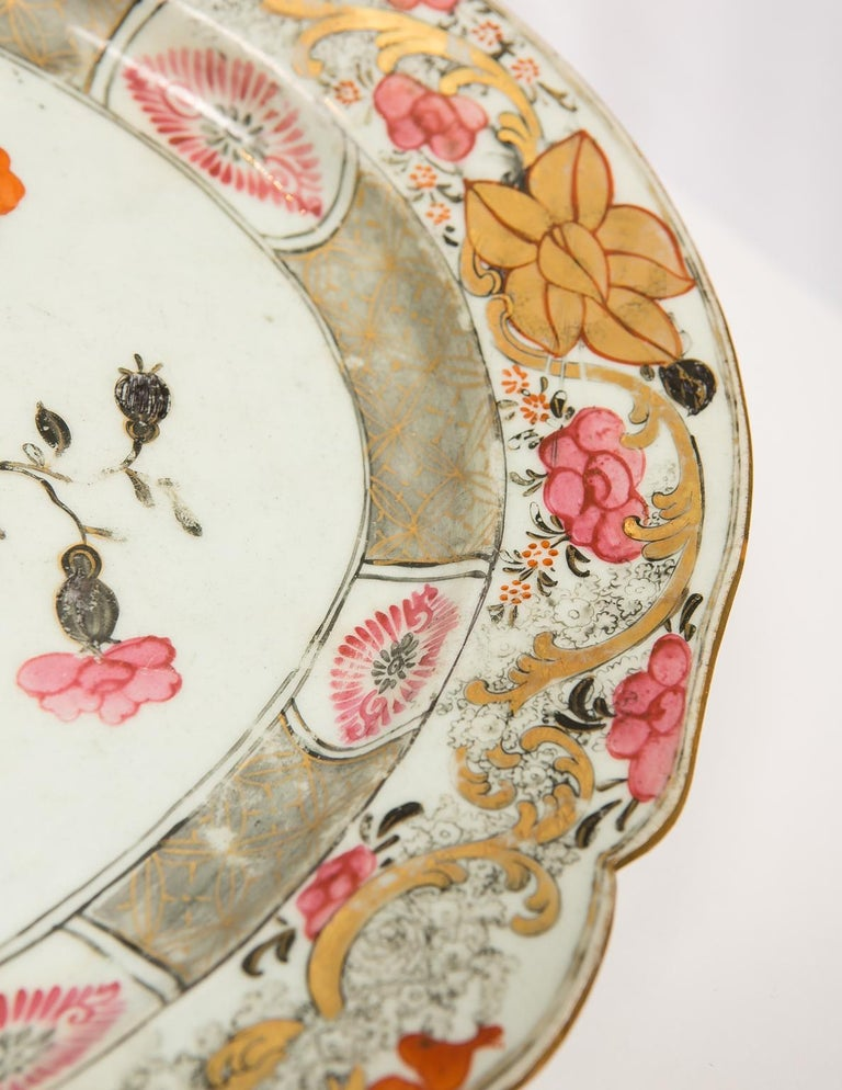 Large Antique Chinese Porcelain Platter Qing Dynasty,  Mid 19th Century For Sale 2