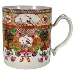 The Collection of Mario Buatta a Large Antique Chinese Porcelain Tankard