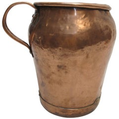 Large Antique Copper Jug, Continental 18th Century