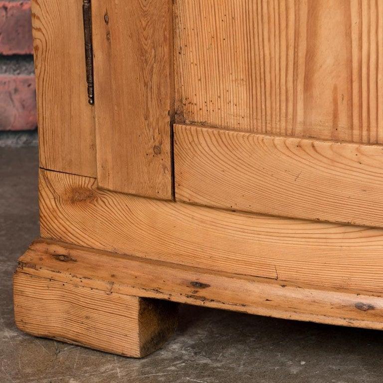Large Antique Danish Bow Front Pine Corner Cabinet For Sale 3