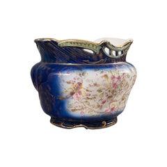 Large Antique Decorative Jardiniere, English, Ceramic, Planter, Bowl, Victorian