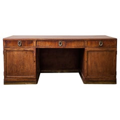 Large Antique Desk Art Nouveau Style Attributed to Adolf Loos for FO Schmidt
