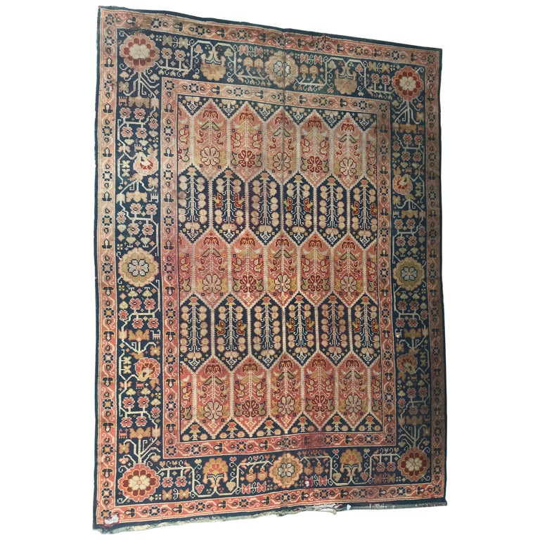 Antique Large Rug: Large Antique Donegal European Rug Antique Rugs And