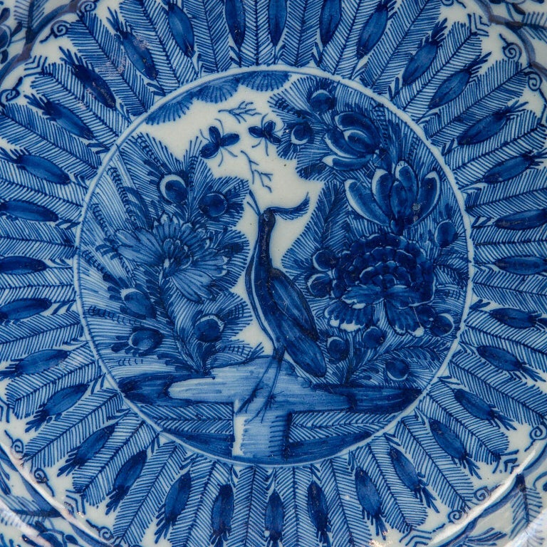 Large Dutch delft blue and white charger made circa 1770. Why we love it The intense cobalt blue We are proud to offer this outstanding Dutch delft blue and white charger made by
