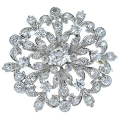 Large Antique Edwardian Diamond Brooch/Pendant, circa 1915
