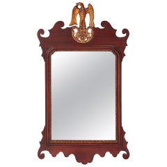 Large Antique Edwardian Mahogany Wall Mirror