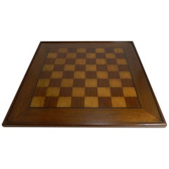 Large Antique English Chess Board, circa 1900