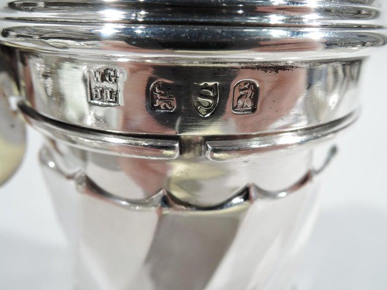 Large Antique English Classical Britannia Silver Sugar Caster For Sale 1