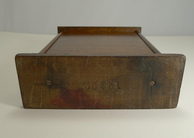 Large Antique English Oak Perpetual Desk Calendar, circa 1900 For Sale 1