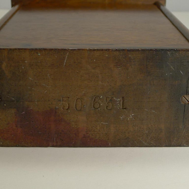 Large Antique English Oak Perpetual Desk Calendar, circa 1900 For Sale 2