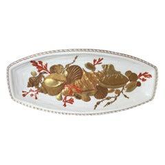 Large Antique English Porcelain Fish Entrée Platter, 1880s