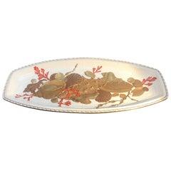 Large Antique English Porcelain Platter, 1880s