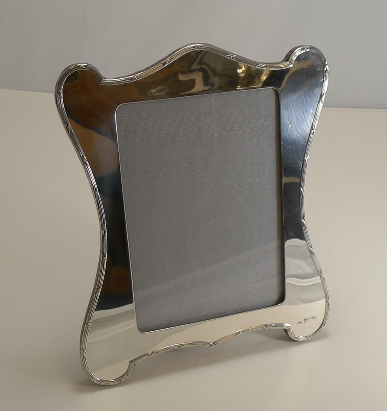 Edwardian Large Antique English Sterling Silver Photograph or Picture Frame, W. Comyns For Sale