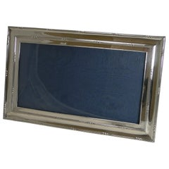 Large Antique English Sterling Silver Two-Way Photograph/ Picture Frame, 1909