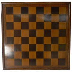 Large Antique English Wooden Chess / Games Board, circa 1900