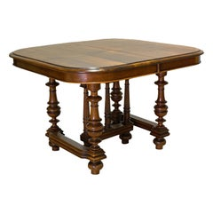 Large Antique Extending Dining Table, French, Walnut, Seats 4-10, circa 1900