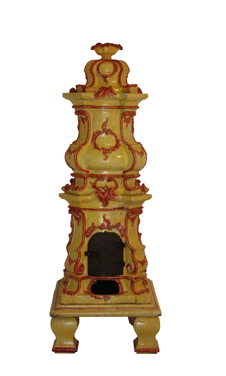 Large Antique Faience Stove, European, 19th Century For Sale 4