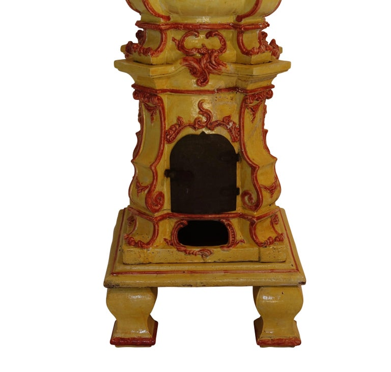 Large Antique Faience Stove, European, 19th Century In Good Condition For Sale In San Francisco, CA