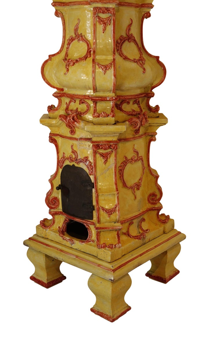 Ceramic Large Antique Faience Stove, European, 19th Century For Sale