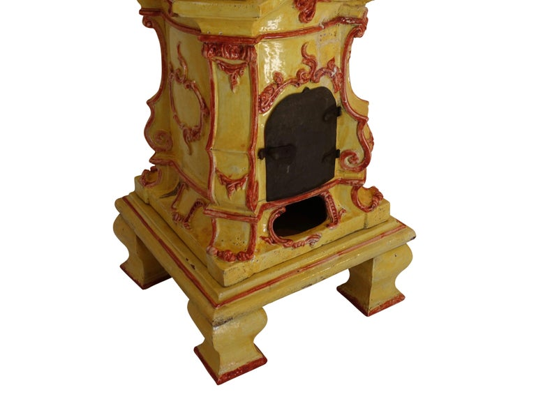 Large Antique Faience Stove, European, 19th Century For Sale 3