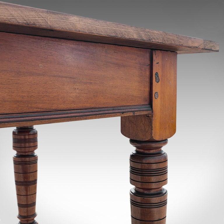Large Antique Farmhouse Table, English, Mahogany, Pine, Dining, Kitchen, C.1900 5