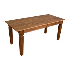 Large Antique Farmhouse Table, English, Oak, 4-6 Seat, Dining, Edwardian, C.1910
