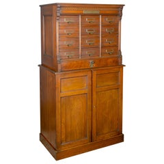 Large Antique Filing Cabinet, English, Edwardian, Walnut, Shannon File Co.