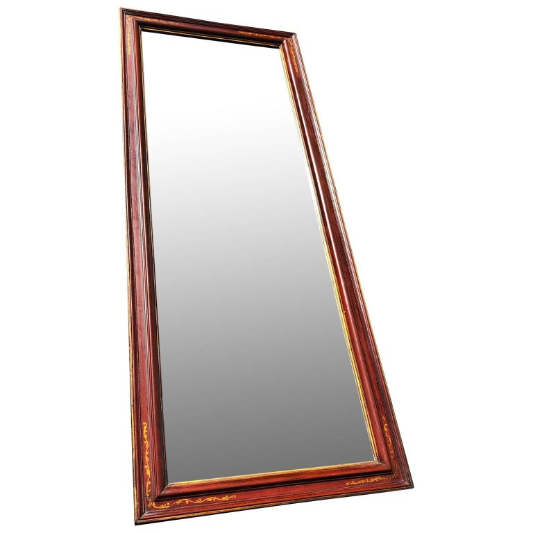 Large antique floor mirror with bevelled mirror glass Mirror could also be used as a large horizontal wall mirror.  $125 flat rate front door delivery includes Washington DC metro, Baltimore and Philadelphia