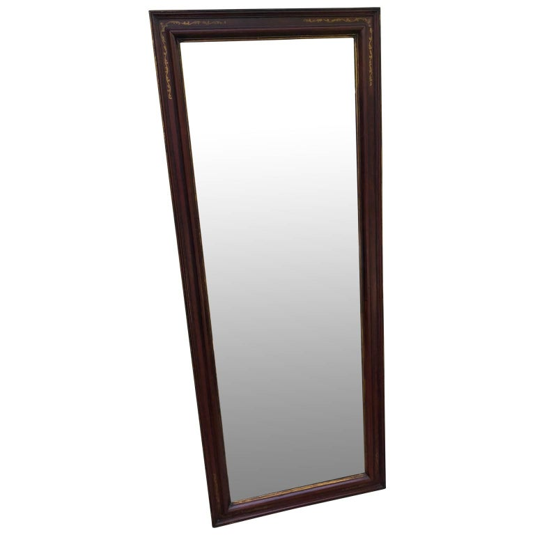 Large glass bevelled wall mirror