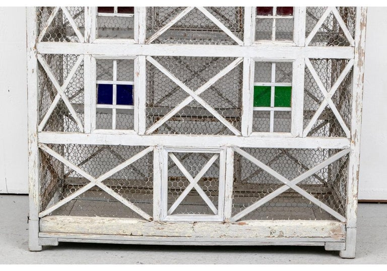 American Large Antique Folk Art Dovecote in Gray Paint  For Sale