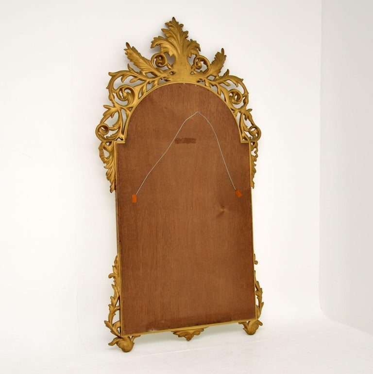 Large Antique French Carved Gilt Wood Mirror For Sale 5