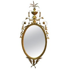 Large Antique French Classical Giltwood Wall Mirror, circa 1900