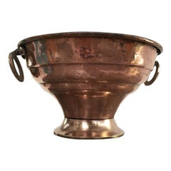 Large Antique French Copper Brass Champagne / Wine Cooler, 1850s, France