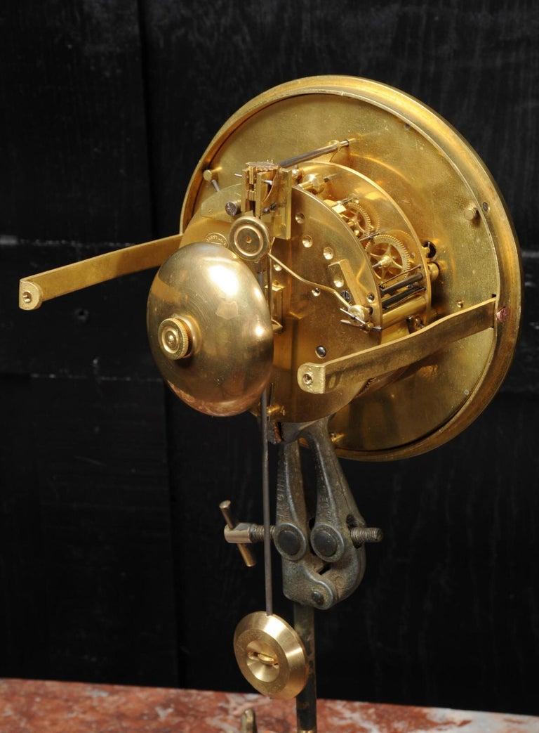 Large Antique French Gothic Gilt Bronze Clock 16