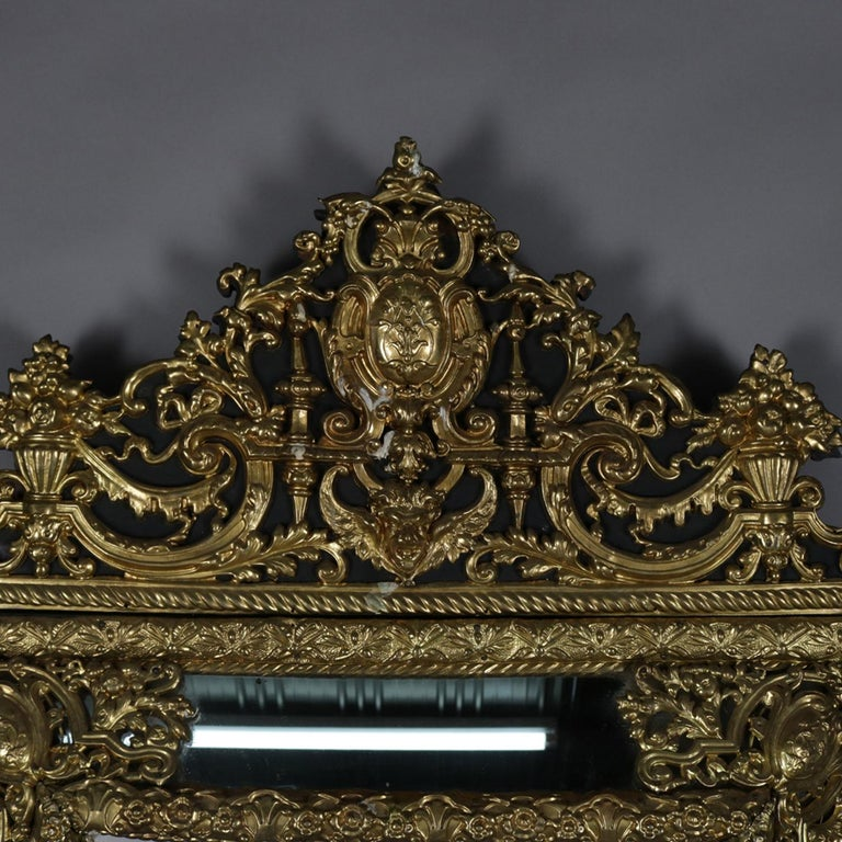 Large Antique French Louis Xiv Gilt And Raised Parclose