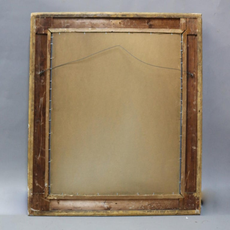Large Antique French Louis XIV Style Carved Giltwood Wall Mirror, 19th Century For Sale 2