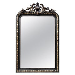 Large Antique French Mirror, Napoleon III Period, circa 1870