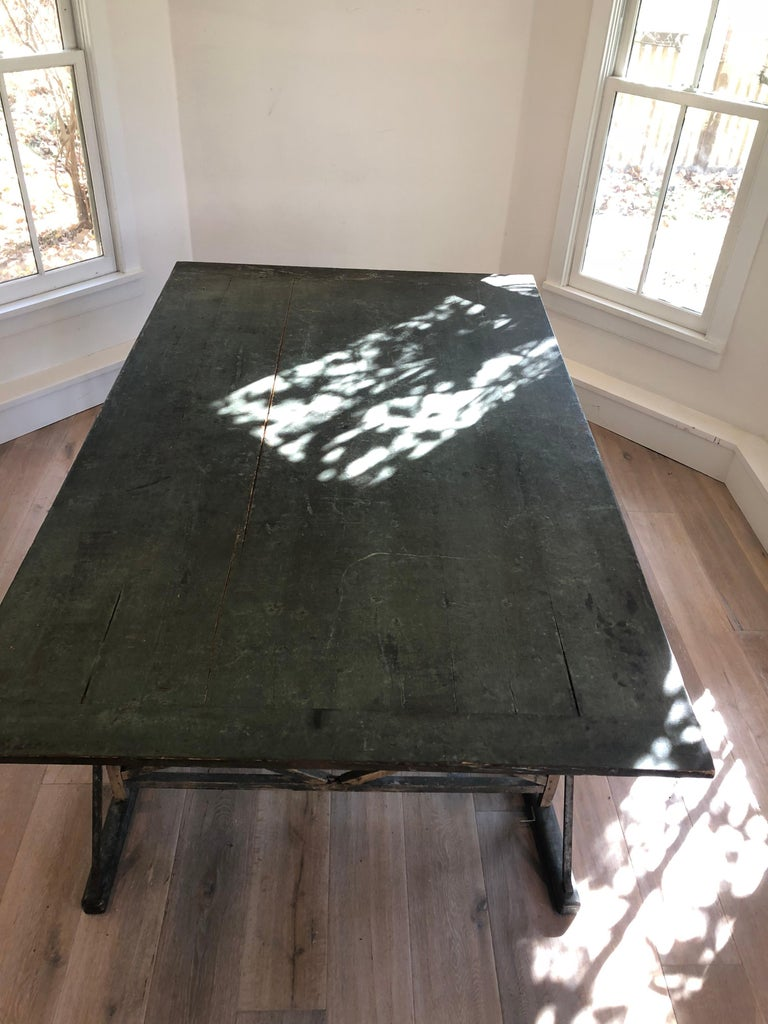 Large Antique French Trestle Table For Sale 2