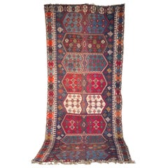 Large Antique Gallery Carpet Turkish Kilim, circa 1900