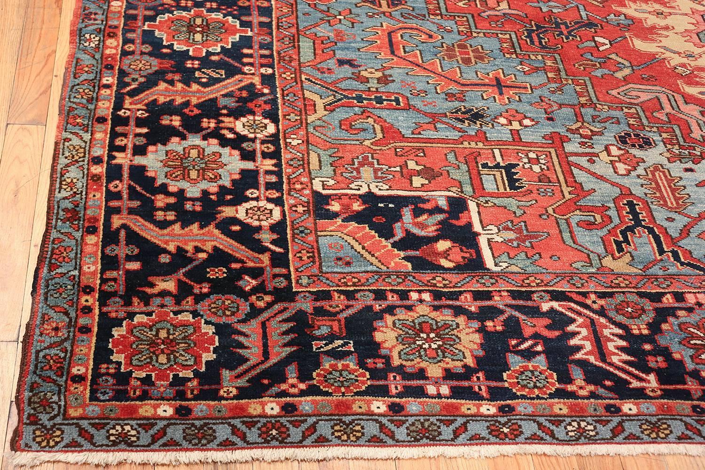 Antique Geometric Heriz Persian Rug