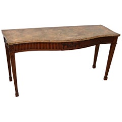 Large Antique Georgian Style Mahogany Console Table