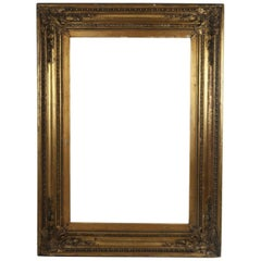 Large Antique Gilt Picture Frame in Renaissance Revival Style
